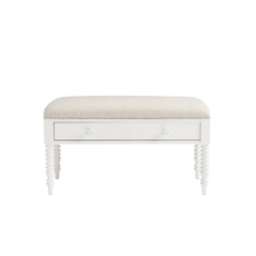 Stone & Leigh Smiling Hill Storage Bed Bench in Marshmallow