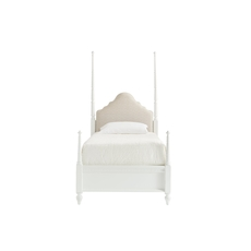Stone & Leigh Smiling Hill Twin Upholstered Panel Bed in Marshmallow
