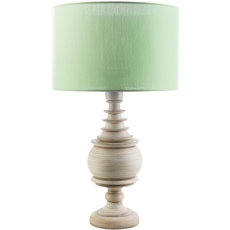 Surya Acacia Table Lamp with Green Shade