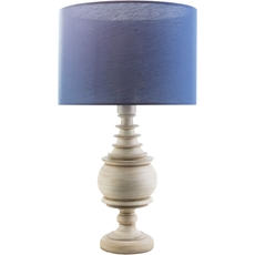 Surya Acacia Table Lamp with Navy Shade