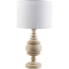 Surya Acacia Table Lamp with White Shade