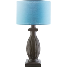 Surya Amani Table Lamp with Blue Shade