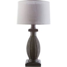 Surya Amani Table Lamp with Gray Shade