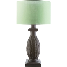 Surya Amani Table Lamp with Green Shade