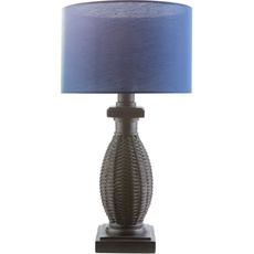 Surya Amani Table Lamp with Navy Shade