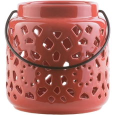 Surya Avery 6.5 Inch Lantern in Poppy