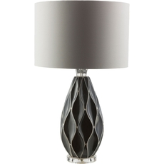 Surya Bethany Table Lamp in Grey