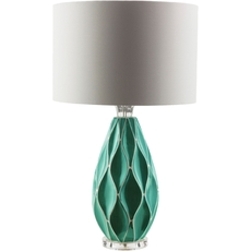Surya Bethany Table Lamp in Teal