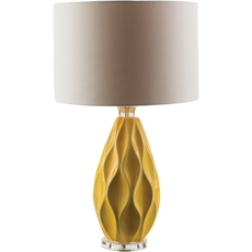 Surya Bethany Table Lamp in Yellow