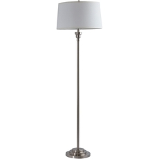 Surya Bingham Floor Lamp with Ivory Shade