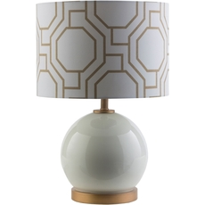 Surya Bowen Table Lamp in White