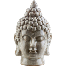 Surya Buddha 12.5 Inch Statue in Light Gray