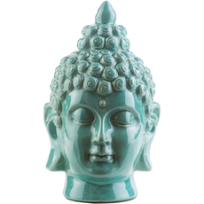 Surya Buddha 12.5 Inch Statue in Teal