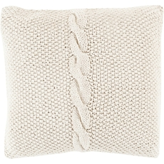Surya Classic Cable Knit Accent Pillow