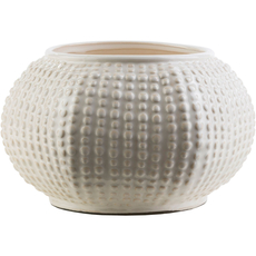 Surya Clearwater 6 Inch Table Vase in Ivory
