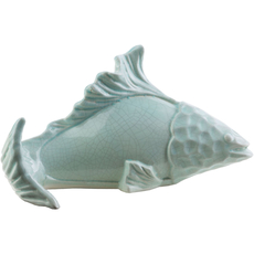 Surya Clearwater Ceramic Fish in Gray