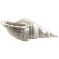 Surya Clearwater Ceramic Shell in Light Gray