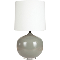 Surya Dahlia Table Lamp in Gray