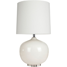Surya Dahlia Table Lamp in White