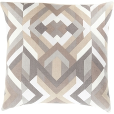 Surya Divine Diagrammatic in Light Gray Accent Pillow