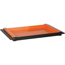 Surya ELM 22 Inch Tray in Tangerine