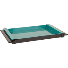 Surya ELM 22 Inch Tray in Teal