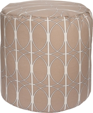 Surya Fabric Pouf 109 in Art Deco Khaki