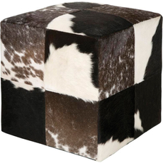 Surya Leather Pouf 56 in Hide Print