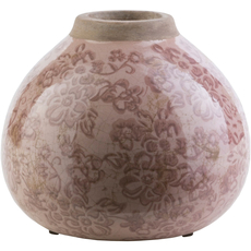 Surya Leclair 6 Inch Table Vase in Taupe and Chocolate