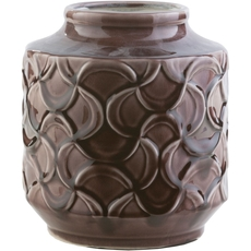 Surya Loyola 8 Inch Table Vase in Chocolate