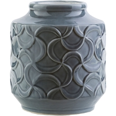 Surya Loyola 8 Inch Table Vase in Navy