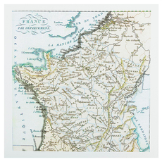 Surya Map of France Wall Art