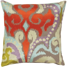 Surya Radiant Swirl in Poppy Red Accent Pillow