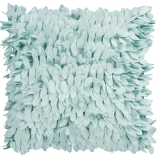 Surya Ruffle and Frill Light Blue Accent Pillow