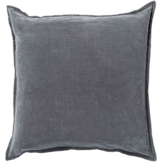 Surya Smooth Velvet in Charcoal Accent Pillow