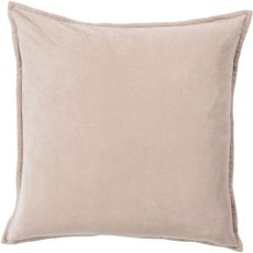 Surya Smooth Velvet in Gray Accent Pillow