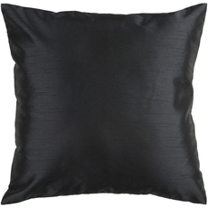 Surya Solid Luxe in Black Accent Pillow