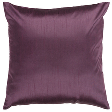 Surya Solid Luxe in Eggplant Accent Pillow