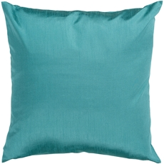 Surya Solid Luxe in Teal Accent Pillow