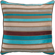 Surya Sparkling Stripe in Taupe Accent Pillow