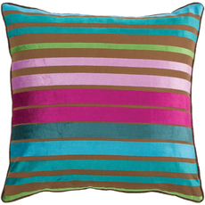 Surya Sparkling Stripe in Teal Accent Pillow