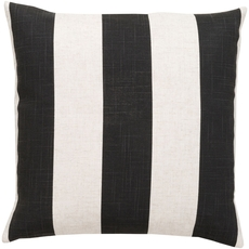 Surya Striking Stripe in Black Accent Pillow