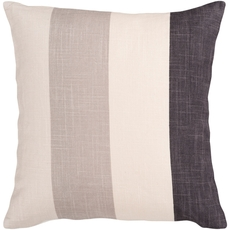 Surya Striking Stripe in Taupe Accent Pillow