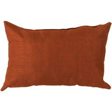Surya Stunning Solid  Cover in Rust Accent Pillow
