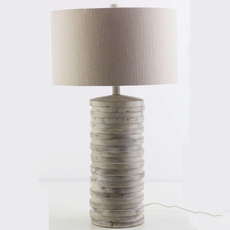Surya Sulak Table Lamp in White Wash