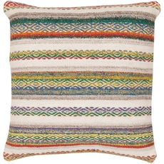 Surya Tender Tribal in Teal Accent Pillow