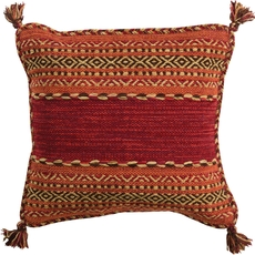 Surya Trenza in Cherry Accent Pillow