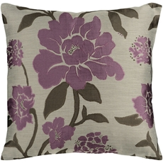 Surya Wild Flowers in Mauve Accent Pillow
