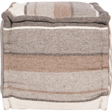 Surya Wool Pouf 99 in Desert Sunset Stripe