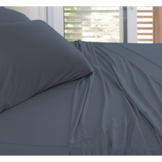 SHEEX Experience California King Sheet Set in Charcoal